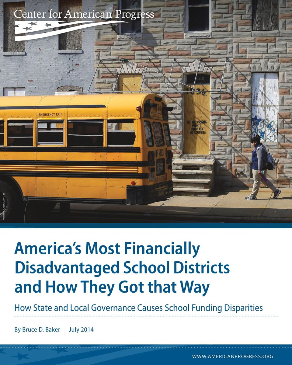 How State and Local Governance Causes School Funding