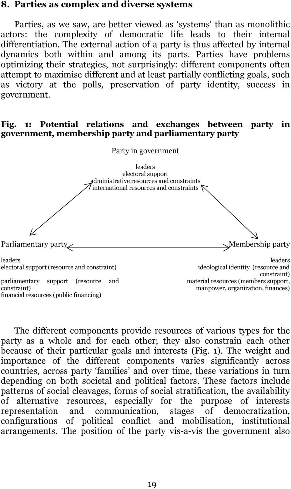 Parties have problems optimizing their strategies, not surprisingly: different components often attempt to maximise different and at least partially conflicting goals, such as victory at the polls,