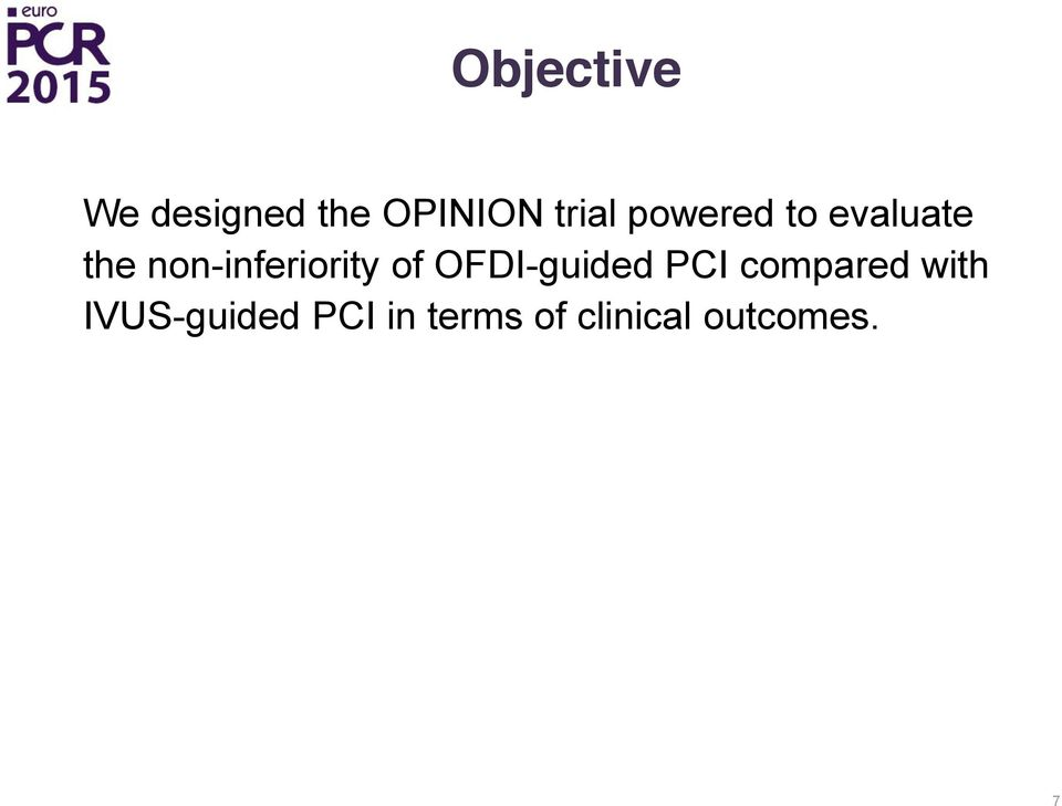 of OFDI-guided PCI compared with