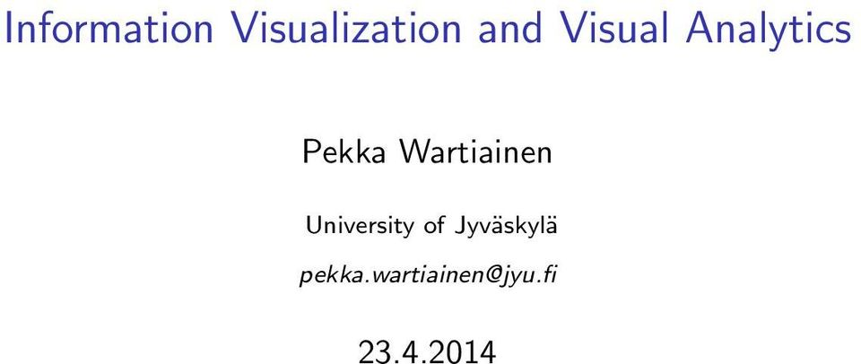 Wartiainen University of