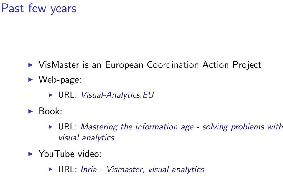 EU URL: Mastering the information age - solving problems