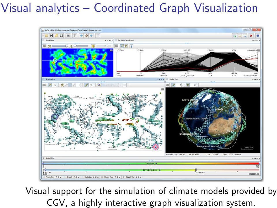 simulation of climate models provided by