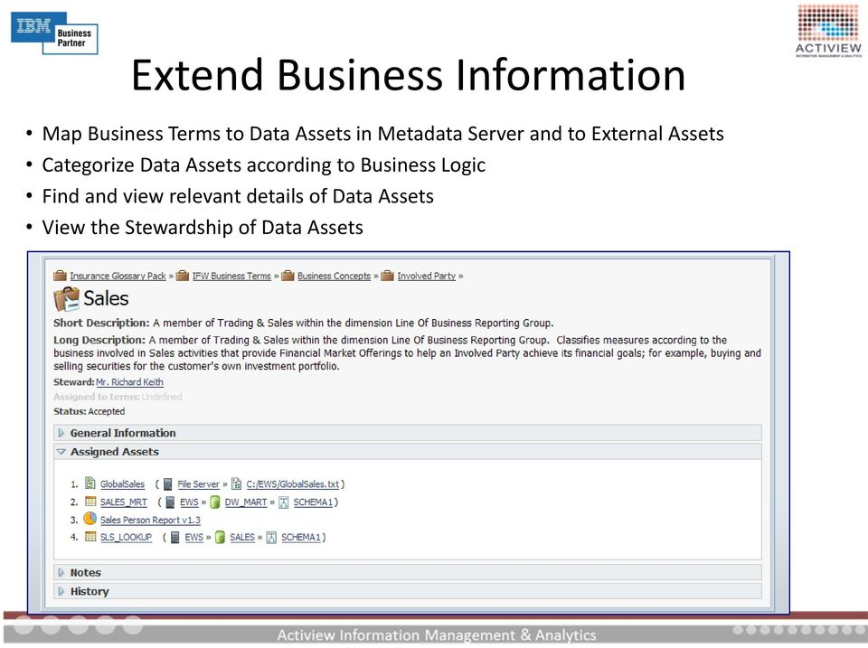 Categorize Data Assets according to Business Logic Find