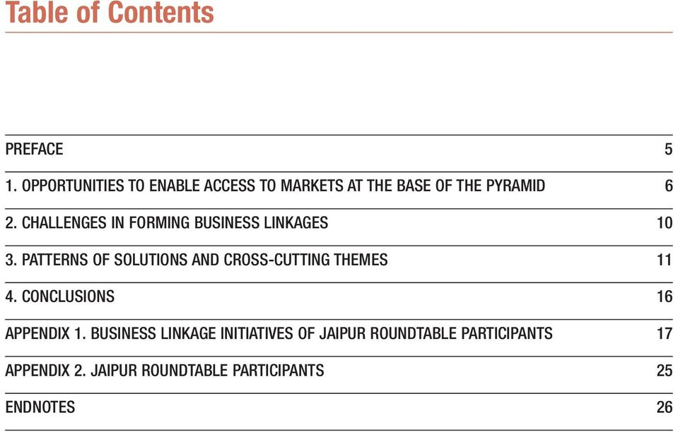 CHALLENGES IN FORMING BUSINESS LINKAGES 10 3.
