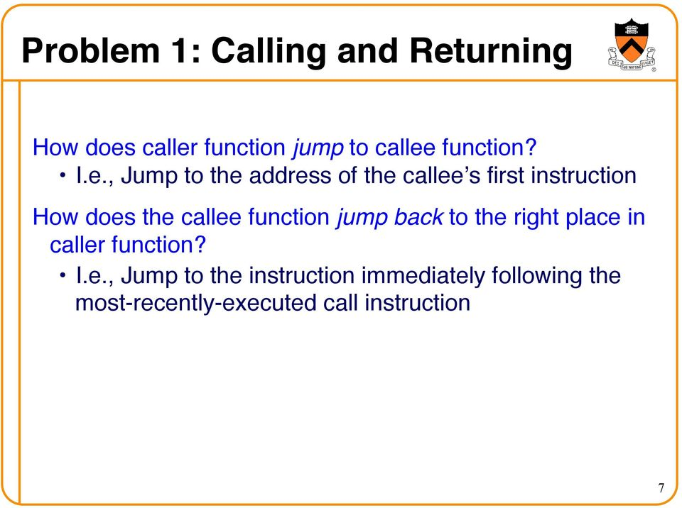 How does the callee function jump back to the right place in caller function?! I.