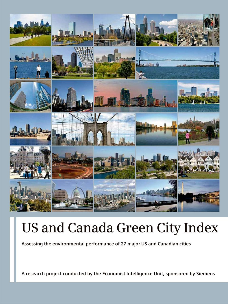 Canadian cities A research project conducted