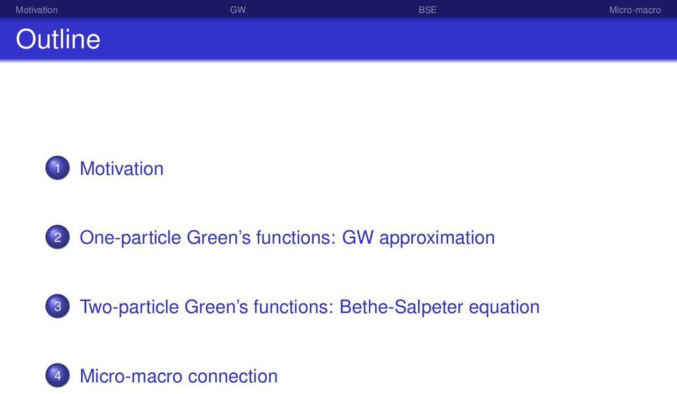 Two-particle Green s functions: