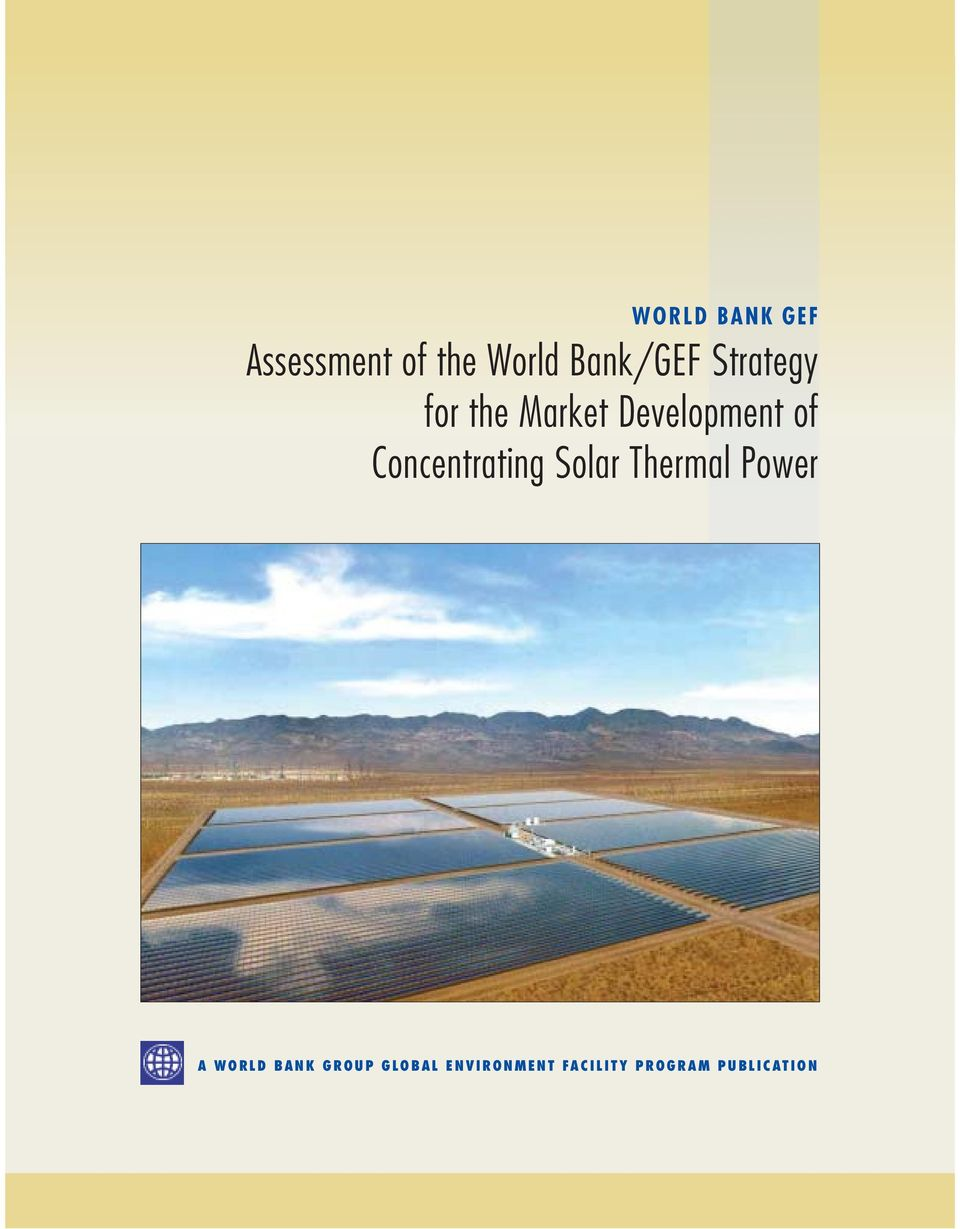 of Concentrating Solar Thermal Power A WORLD