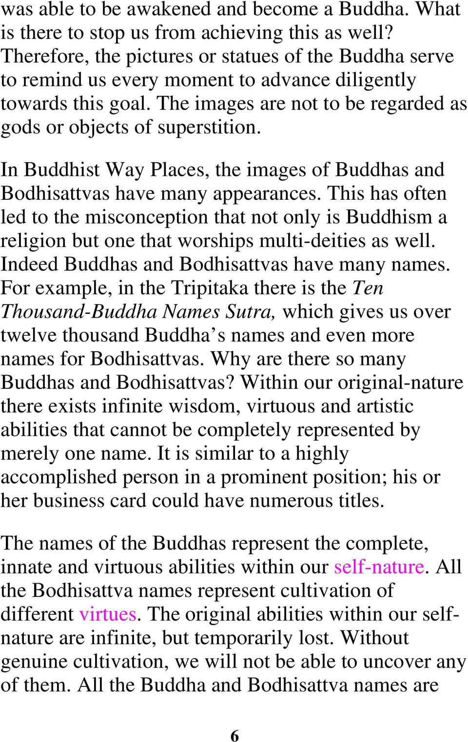 In Buddhist Way Places, the images of Buddhas and Bodhisattvas have many appearances.