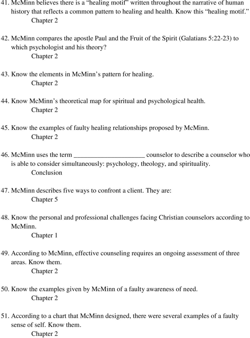 mcminns psychology theology and spirituality in christian counseling religion essay View essay - coun 506 4mat review mcminn from coun 506 at liberty running head: 4mat review mcminn 1 4mat review of mcminns psychology, theology, and spirituality in christian counseling.