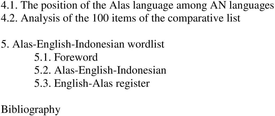 Alas-English-Indonesian wordlist 5.1. Foreword 5.2.