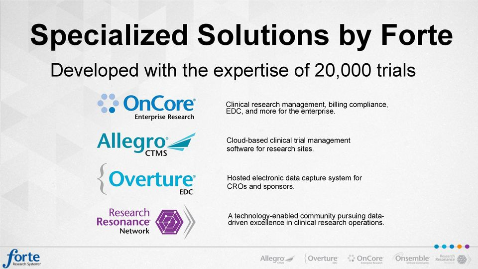 Cloud-based clinical trial management software for research sites.