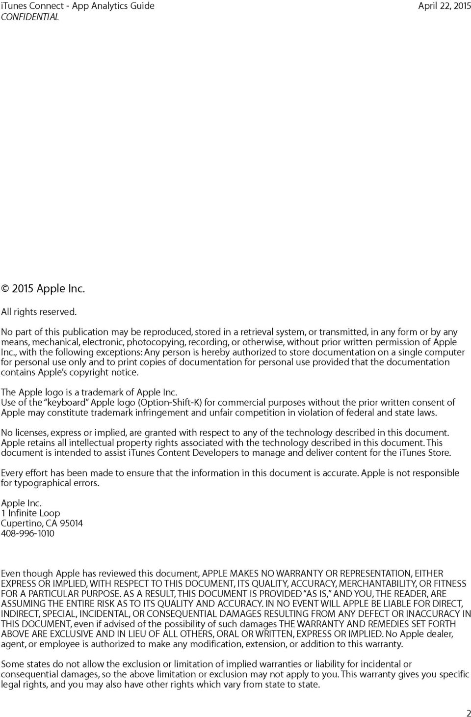 written permission of Apple Inc.