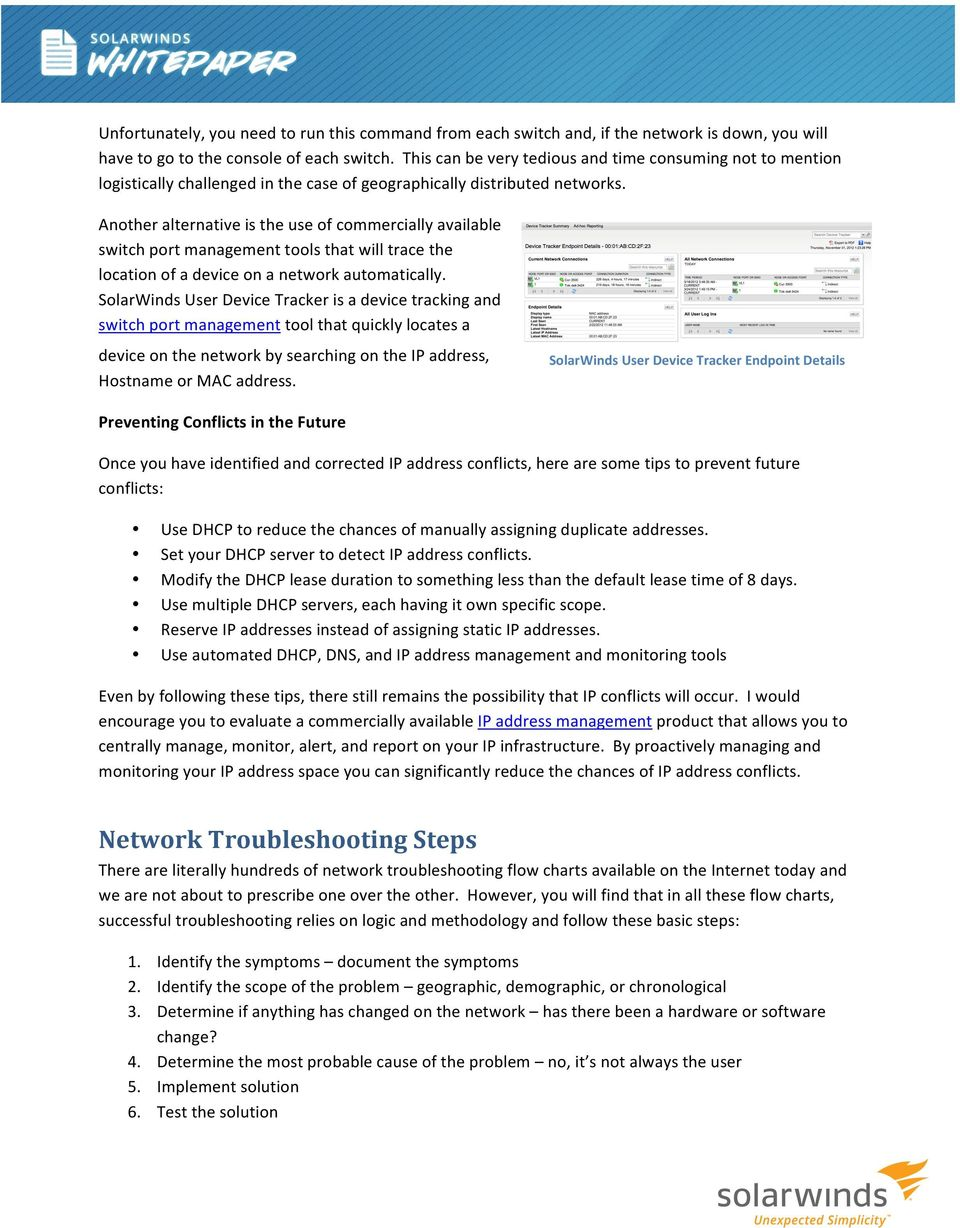 Network Troubleshooting and Problem Identification  Brad