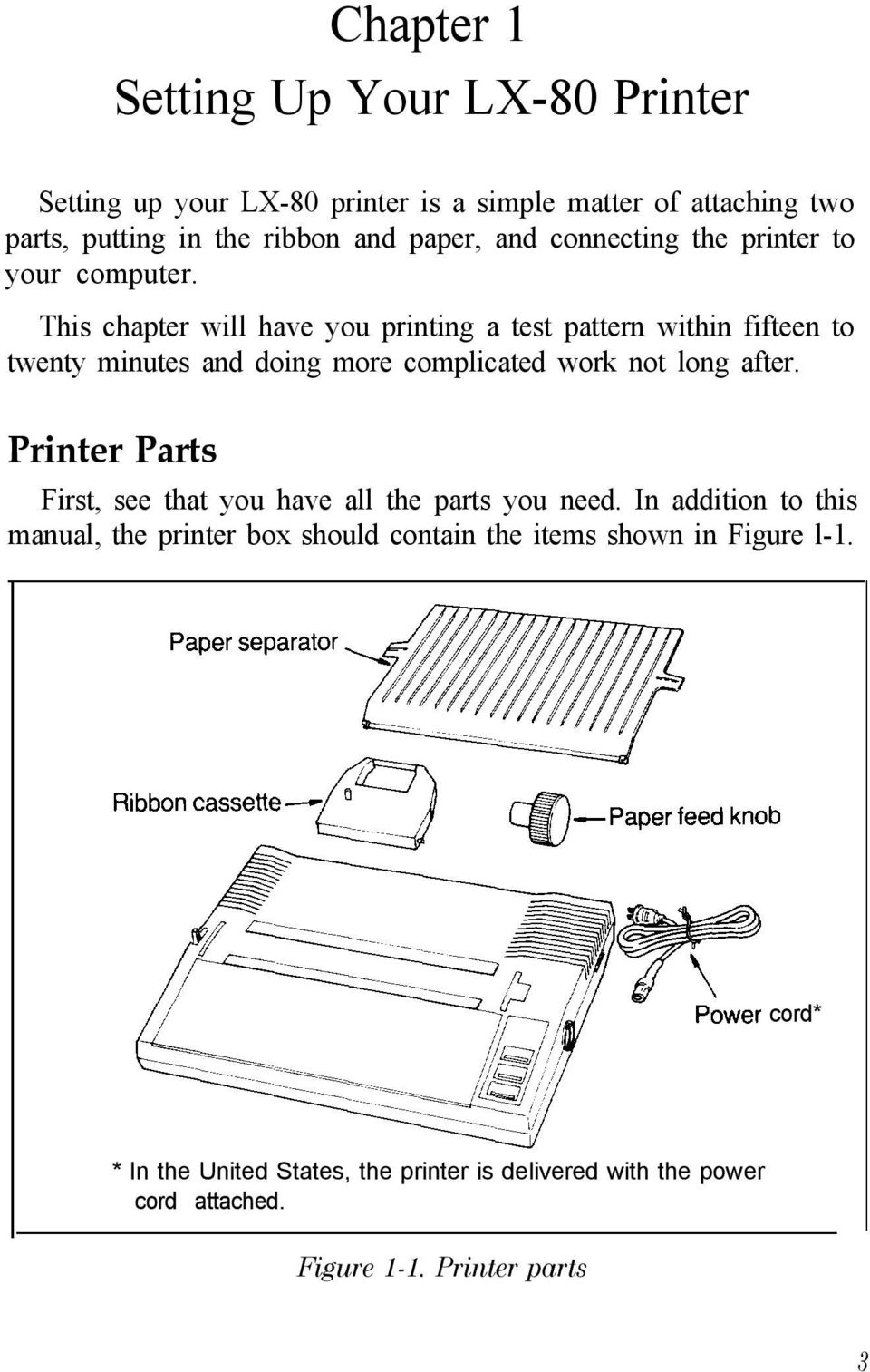 This chapter will have you printing a test pattern within fifteen to twenty minutes and doing more complicated work not long after.
