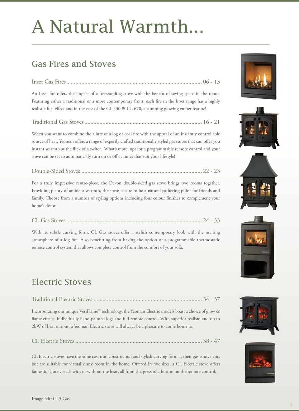 Traditional Gas Stoves.