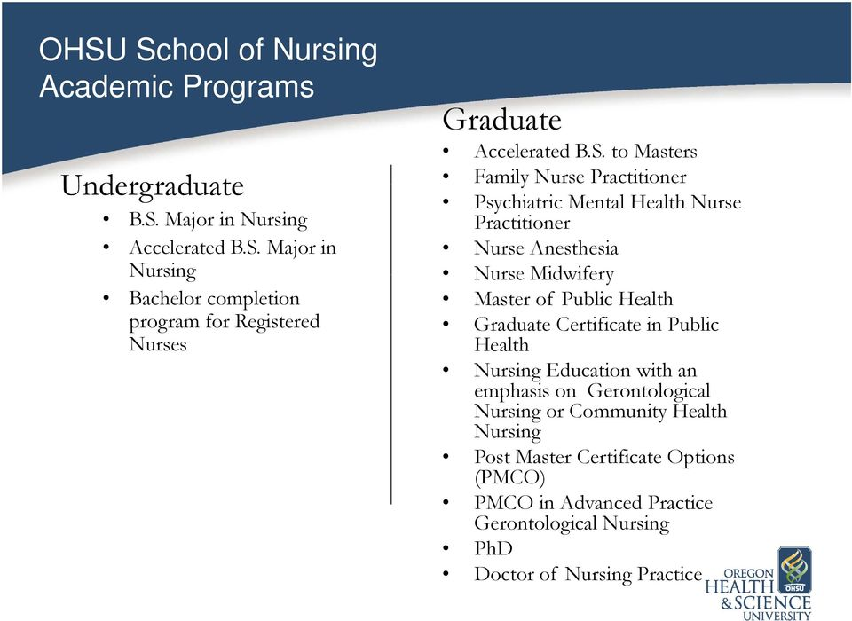 ohsu school of nursing -