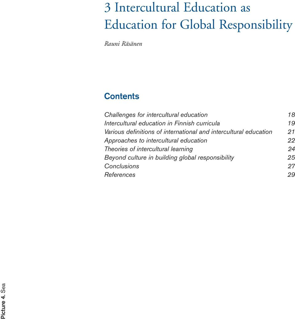 international and intercultural education 21 Approaches to intercultural education 22 Theories of