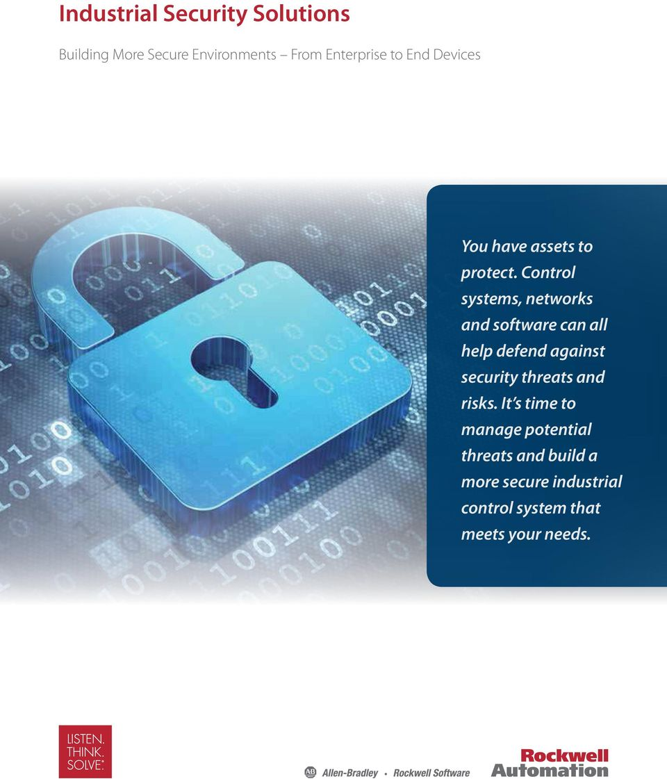 Control systems, networks and software can all help defend against security