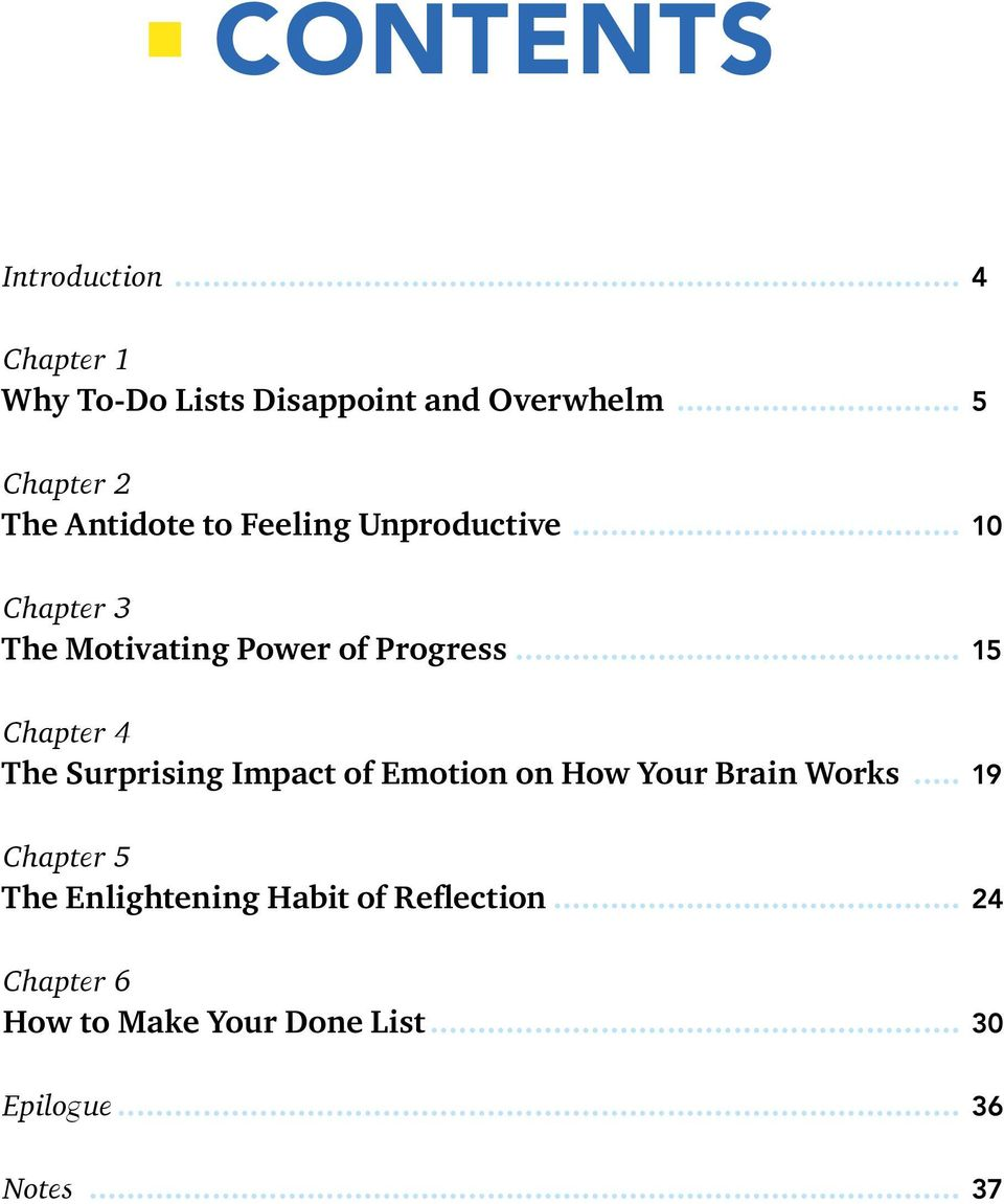 .. 10 Chapter 3 The Motivating Power of Progress.
