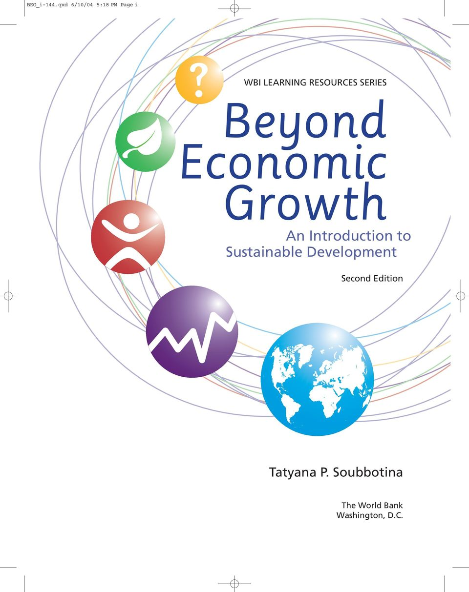 SERIES Beyond Economic Growth An Introduction to