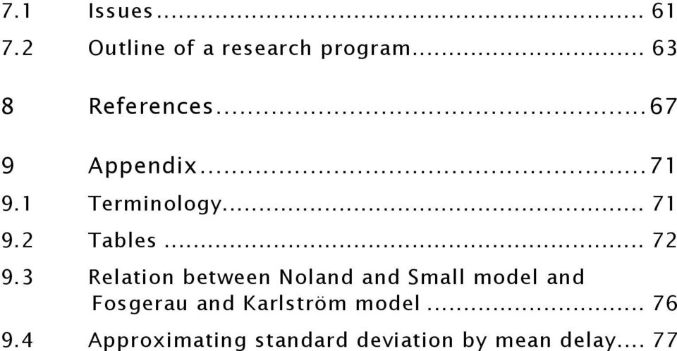 3 Relation between Noland and Small model and Fosgerau and