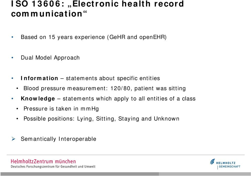 120/80, patient was sitting Knowledge statements which apply to all entities of a class Pressure