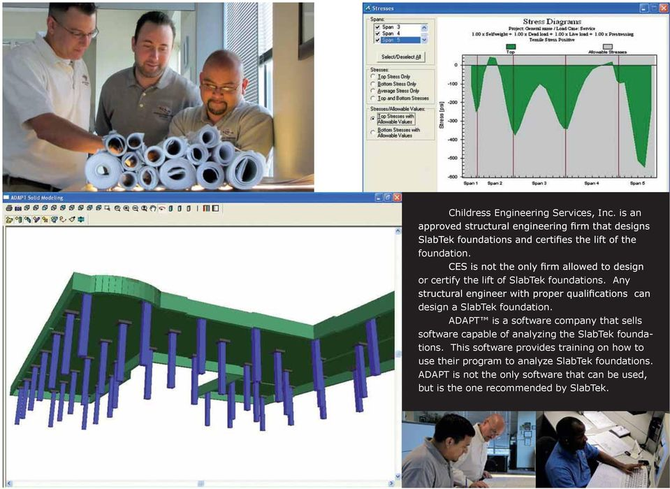 ADAPT is a software company that sells software capable of analyzing the SlabTek foundations.
