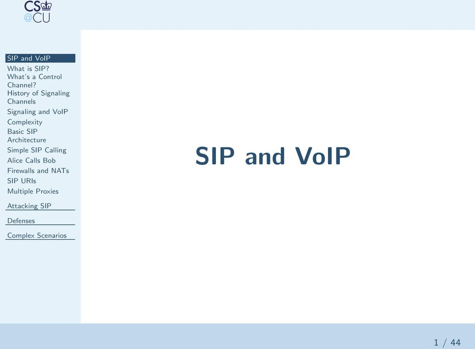 Complexity Basic SIP Architecture Simple SIP