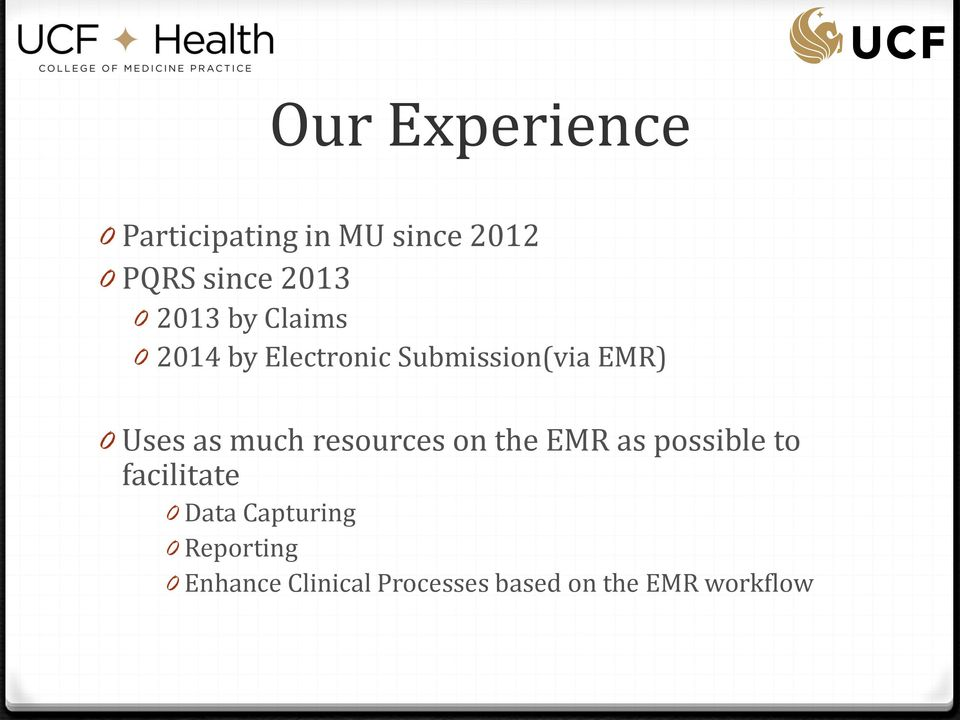 much resources on the EMR as possible to facilitate 0 Data