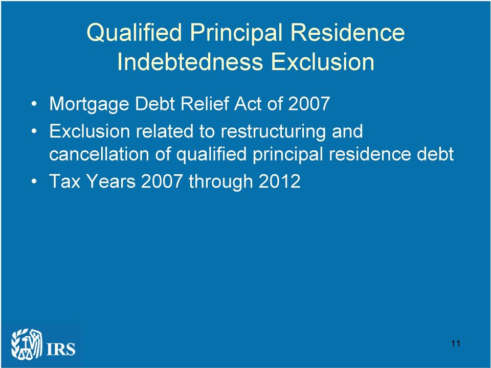 Exclusion related to restructuring and cancellation