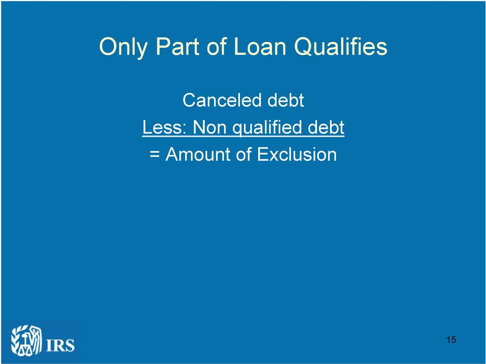 debt Less: Non