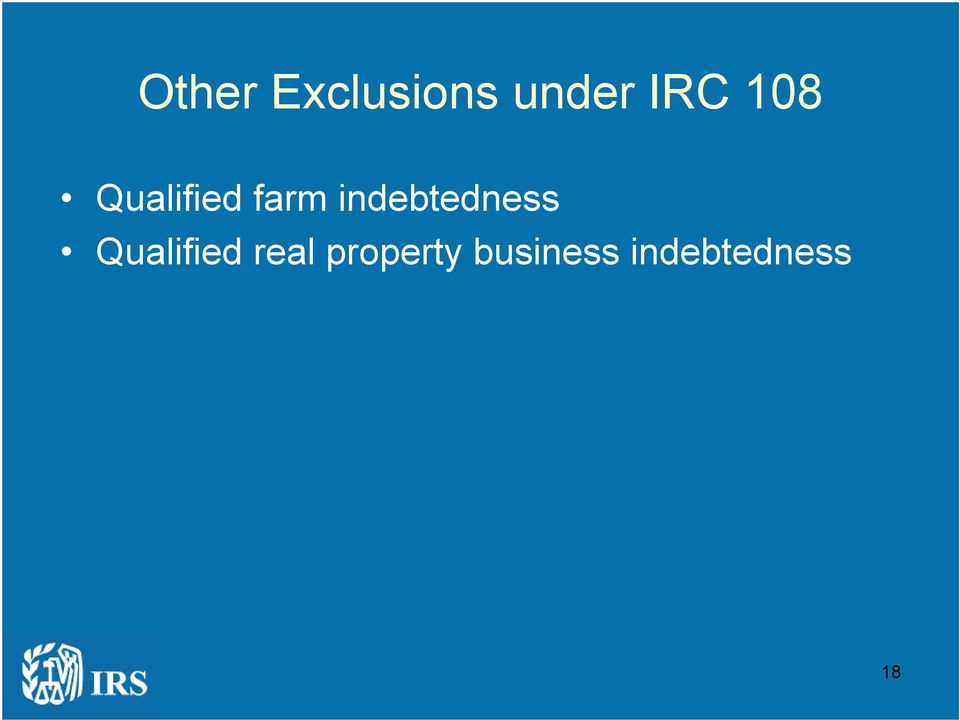 indebtedness Qualified