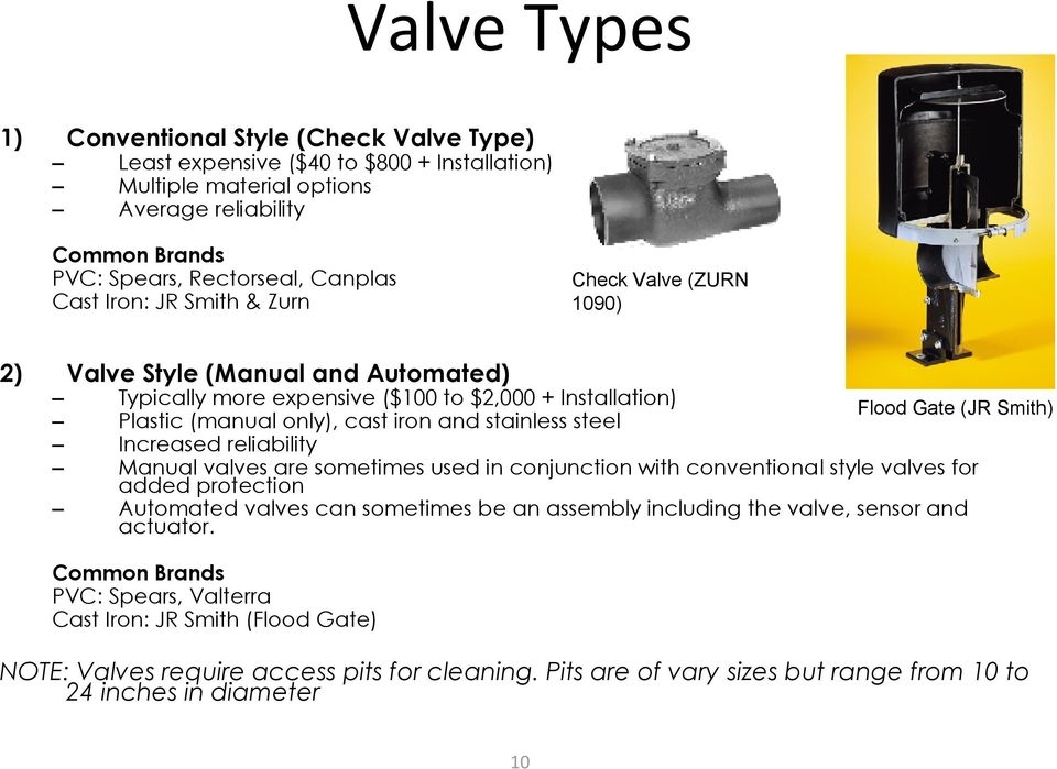 stainless steel Increased reliability Manual valves are sometimes used in conjunction with conventional style valves for added protection Automated valves can sometimes be an assembly including the