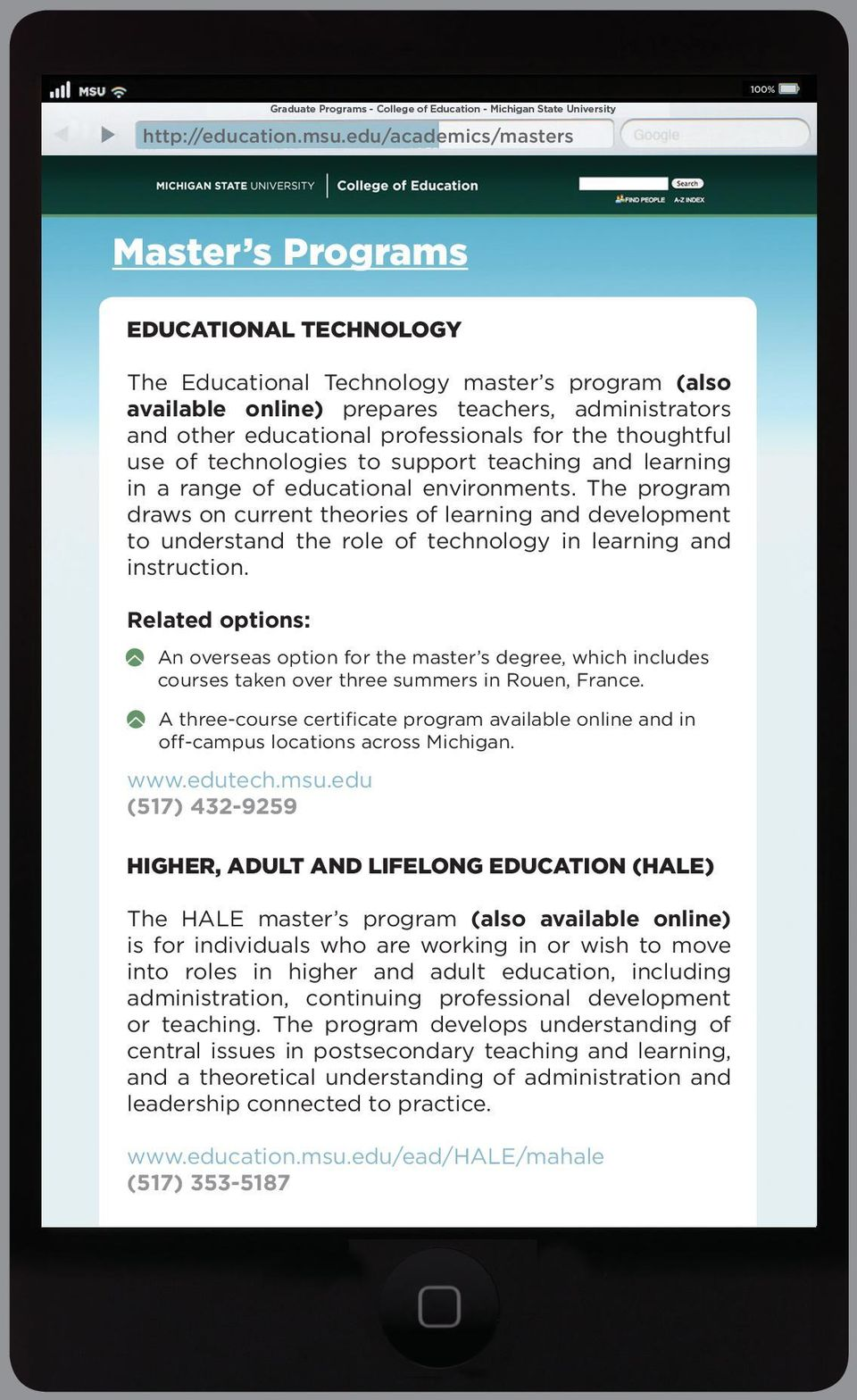 professionals for the thoughtful use of technologies to support teaching and learning in a range of educational environments.
