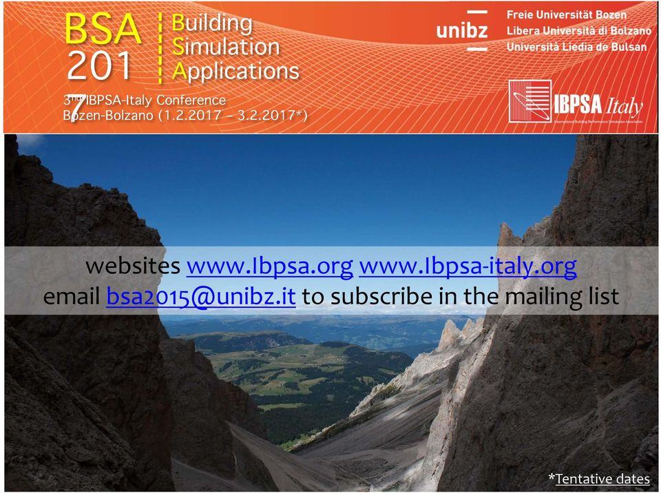 ibpsa.org www.ibpsa italy.org email bsa2015@unibz.
