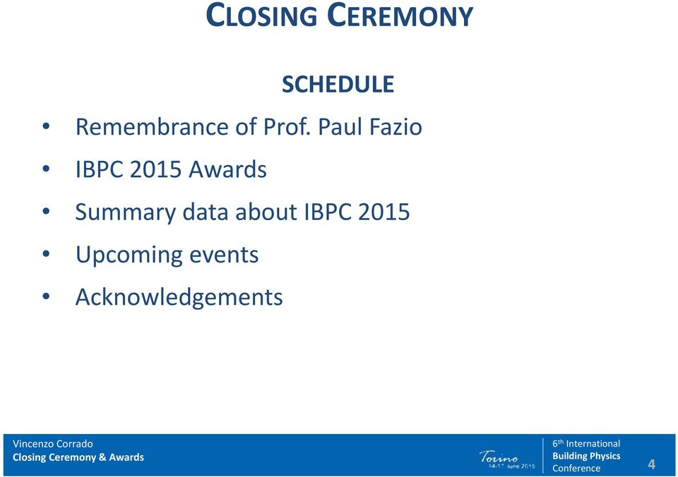 Paul Fazio IBPC 2015 Awards