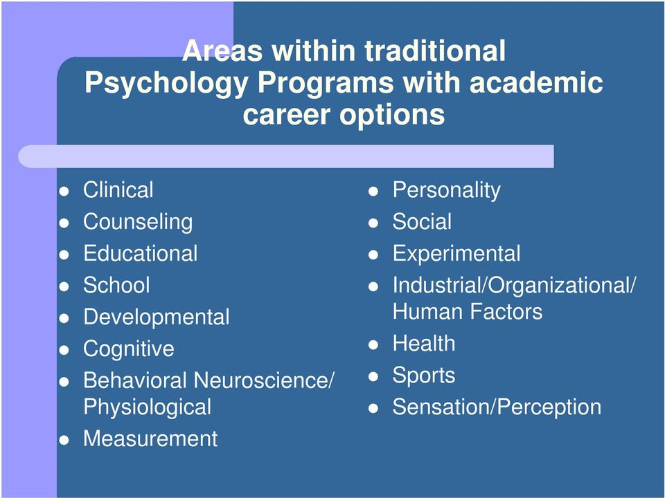 Neuroscience/ Physiological Measurement Personality Social Experimental