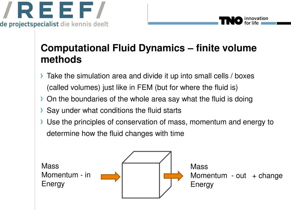 the fluid is doing Say under what conditions the fluid starts Use the principles of conservation of mass, momentum