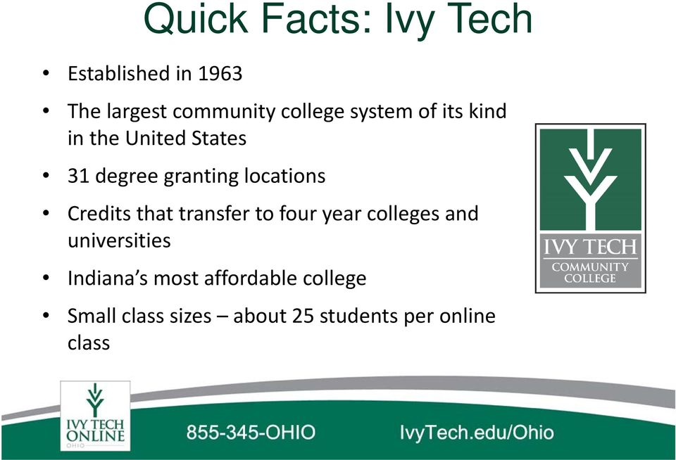 Credits that transfer to four year colleges and universities Indiana s