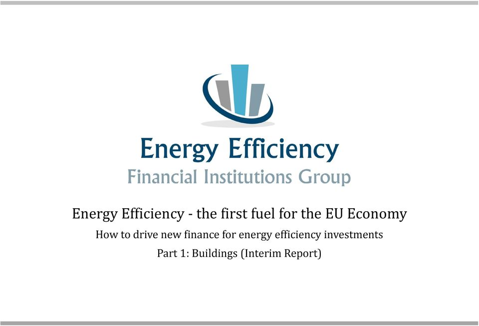 finance for energy efficiency