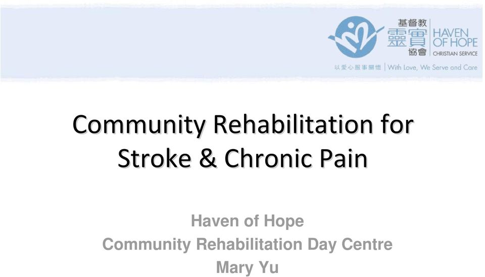 Haven of Hope  Day Centre