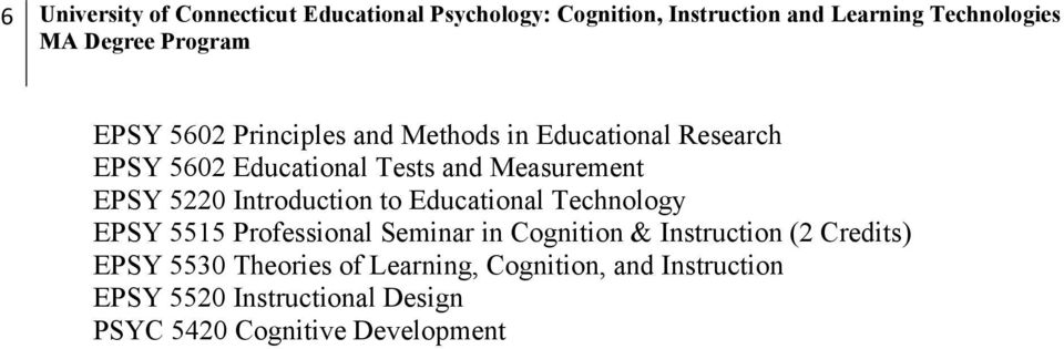 Introduction to Educational Technology EPSY 5515 Professional Seminar in Cognition & Instruction (2 Credits)