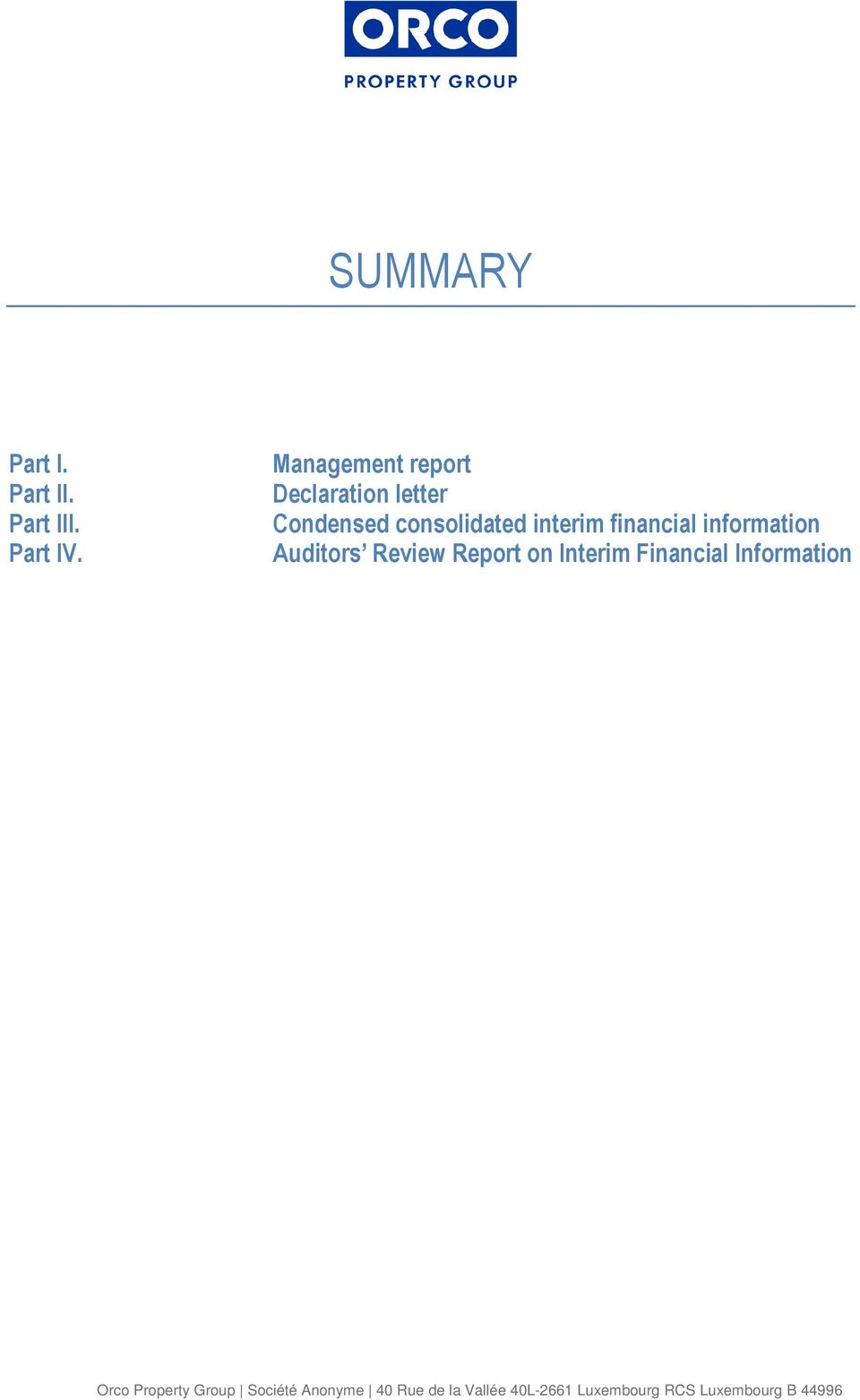 financial information Auditors Review Report on Interim Financial