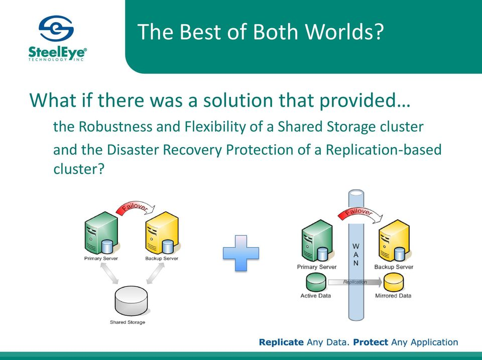 Robustness and Flexibility of a Shared Storage