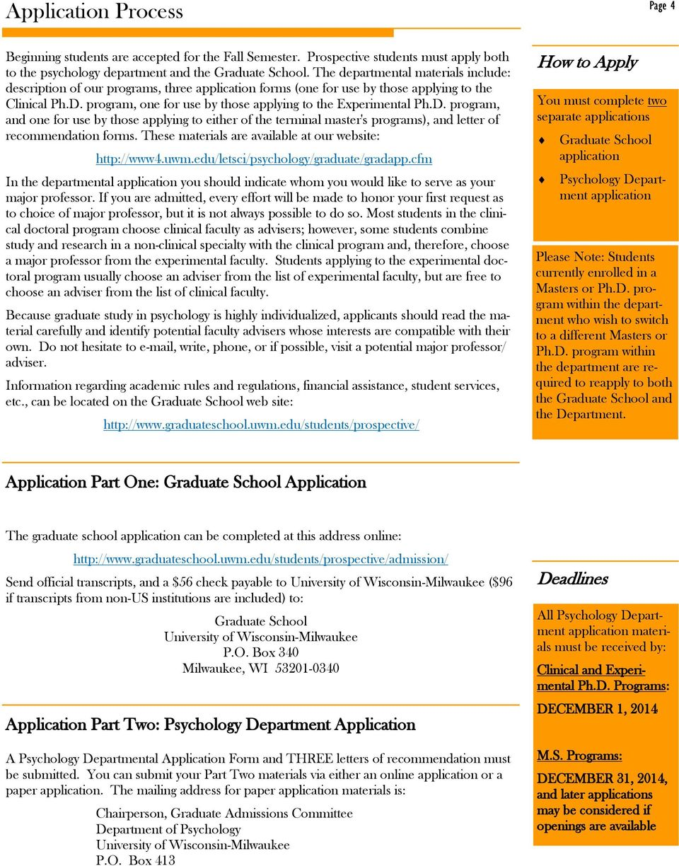 program, one for use by those applying to the Experimental Ph.D. program, and one for use by those applying to either of the terminal master's programs), and letter of recommendation forms.