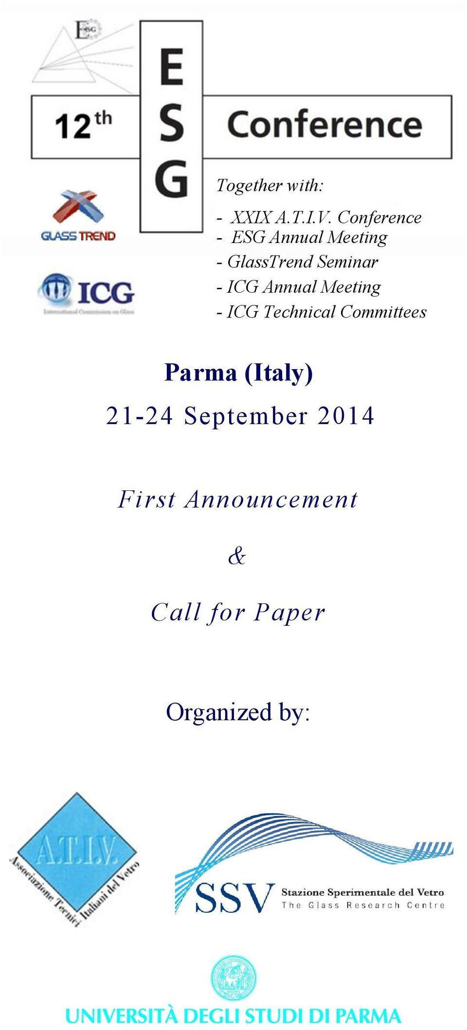 - ICG Annual Meeting - ICG Technical Committees Parma
