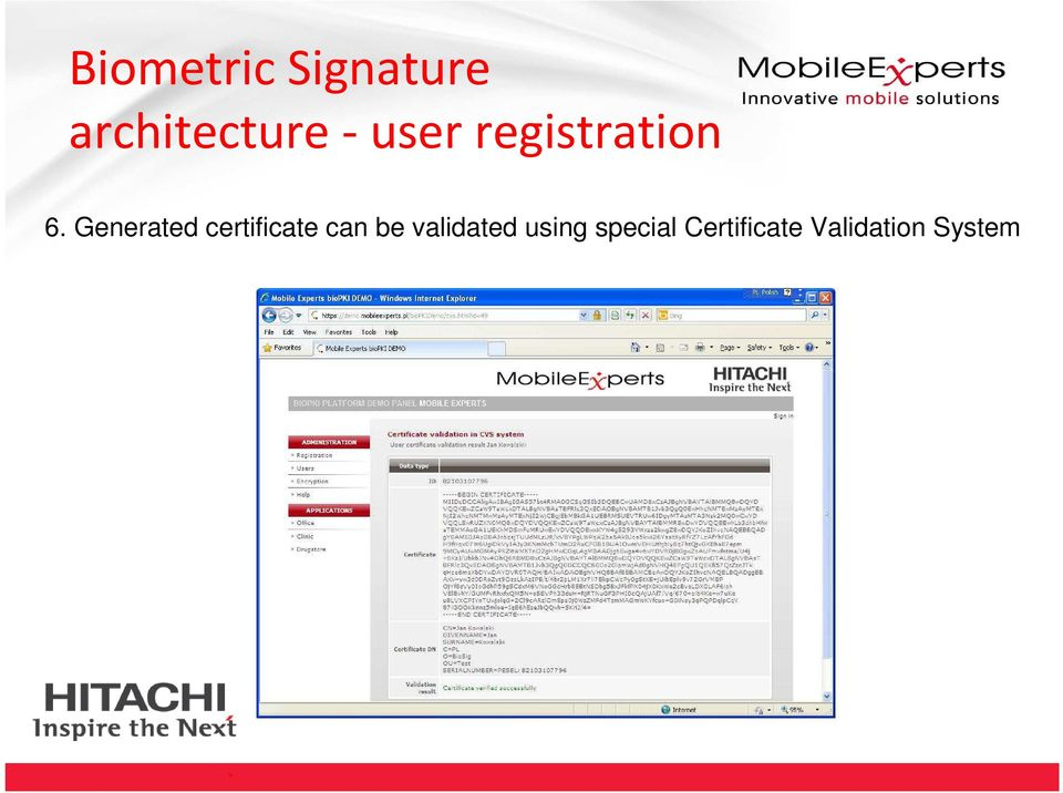 Generated certificate can be