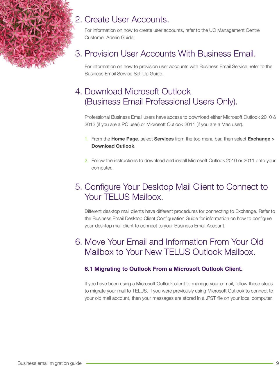 Professional Business Email users have access to download either Microsoft Outlook 2010 & 2013 (if you are a PC user) or Microsoft Outlook 2011 (if you are a Mac user). 1.
