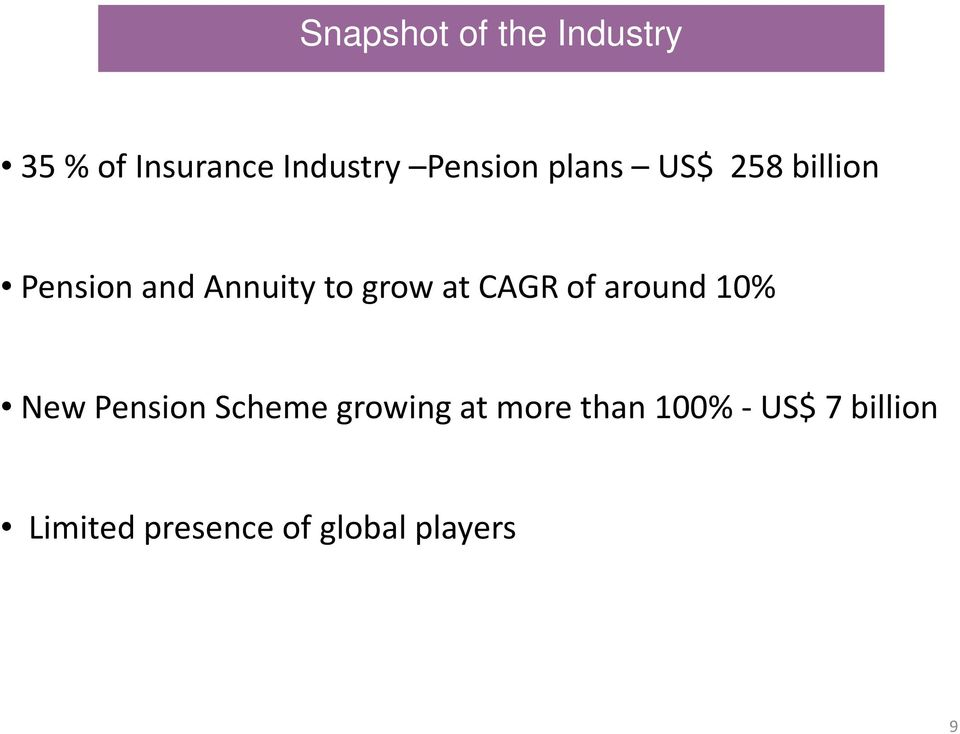 at CAGR of around 10% New Pension Scheme growing at more